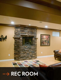 Rec. Room Renovations - All Canadian Renovations Ltd. - Winnipeg Basement Renovations