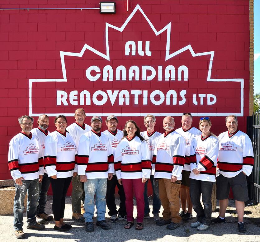 All Canadian Renovations Ltd. Team - Kitchen Renovations Winnipeg - Winnipeg Bathroom Renovations - Basement Renovations Winnipeg - All Canadian Renovations Ltd.