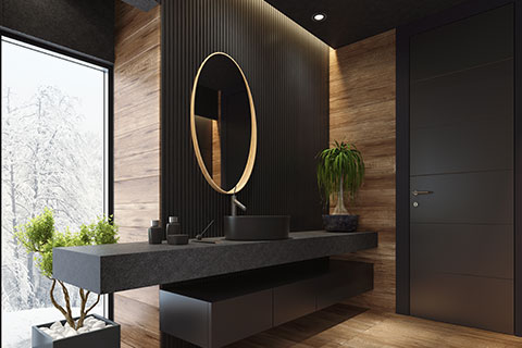 Bathroom Design tip: Exposed or Natural materials - Winnipeg Bathroom Renovations - All Canadian Renovations Ltd.