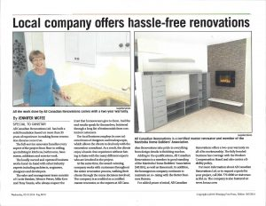 Hassle-Free Renovations - All Canadian Renovations Ltd. - Kitchen Renovations Winnipeg, Manitoba