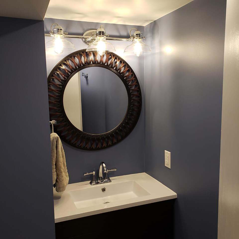 Lorette Basement Bathroom - Winnipeg Bathroom Renovations - All Canadian Renovations Ltd.