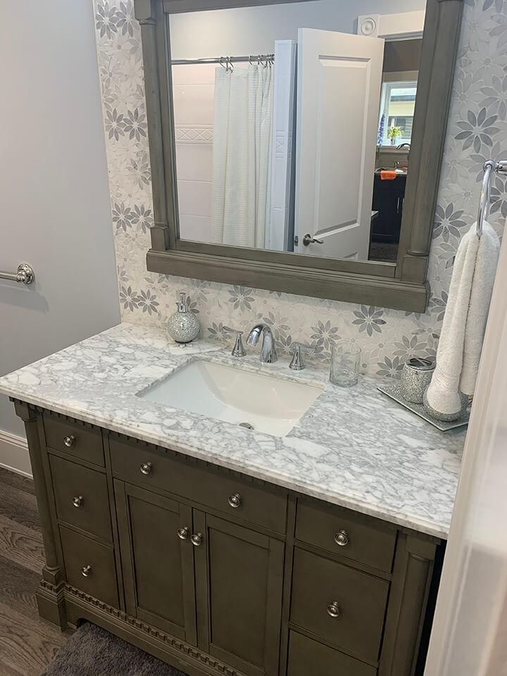 Vaughan Bathroom Powder Room - Bathroom Renovations Winnipeg - All Canadian Renovations Ltd.