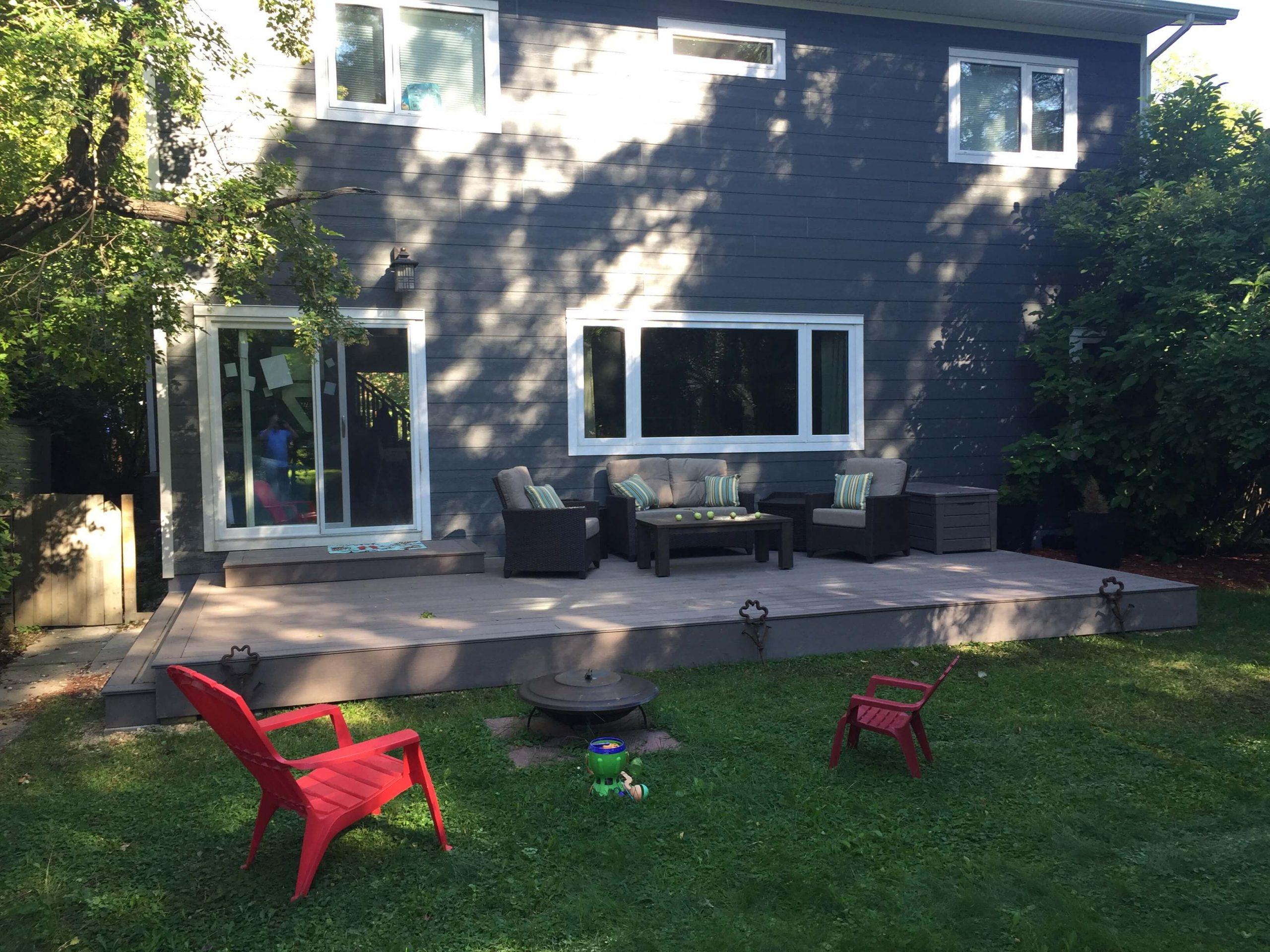 Deck - Composite - Wildwood Park - All Canadian Renovations Ltd. - Kitchen and Bathroom Renovations Winnipeg, Manitoba